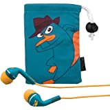"Phineas and Ferb ""Agent P"" Noise Isolating earphones with Pouch, DF-M153"