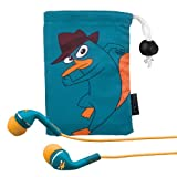 eKids  Phineas and Ferb Agent P Noise Isolating Earphones with Pouch, by iHome  - DF-M153