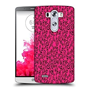 Snoogg Pink Pattern Printed Protective Phone Back Case Cover For LG G3