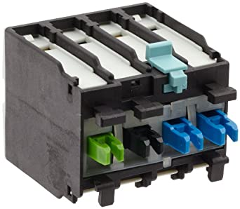 Siemens 3RH19 21-1MA11 Auxiliary Switching Block For Contactor, Screw Connection, 2 Pole, Cable Entry From Below, 1 NO + 1 NC Contacts