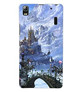 ColourCraft Castle Design Back Case Cover for LENOVO A7000