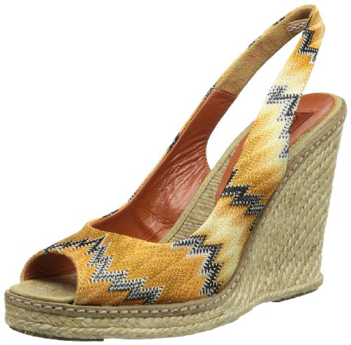 Missoni ESPADR.SCOLLATA BASICA+GUARD.CUOIO Sandals Womens VM046 P multi-coloured Size: 5 (38 EU)