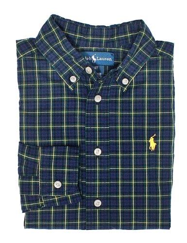 Ralph Lauren Toddler Boy'S Plaid Shirt (6, Navy Multi) front-1048039
