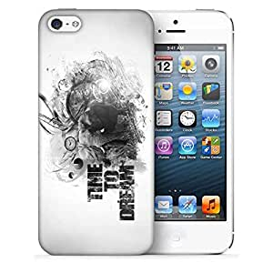Snoogg Time To Dream Printed Protective Phone Back Case Cover For Apple Iphone 5 / 5S