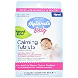 Hyland's Baby Calming Tablets, Natural Relief of Sleeplessness, Fussiness, and Irritability for Infants, 125 Count