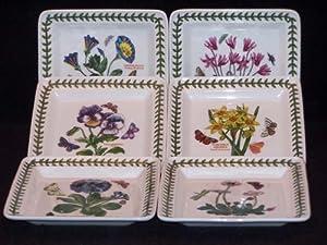 Portmeirion Botanic Garden Square Bread & Butter Plates-Set(s) Of 6