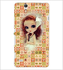 PrintDhaba Cute Doll D-5712 Back Case Cover for SONY XPERIA C4 (Multi-Coloured)