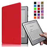 Fintie Kindle 5 & Kindle 4 Ultra Slim Case - The Thinnest and Lightest PU Leather Cover with Magnet Closure (Only Fit Amazon Kindle With 6'' E Ink Display, does not fit Kindle Paperwhite, Touch, or Keyboard), Red