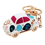 niceeshop(TM) Retro Car Shape Alloy Resin Rhinestone Diamond Keychain Key Ring