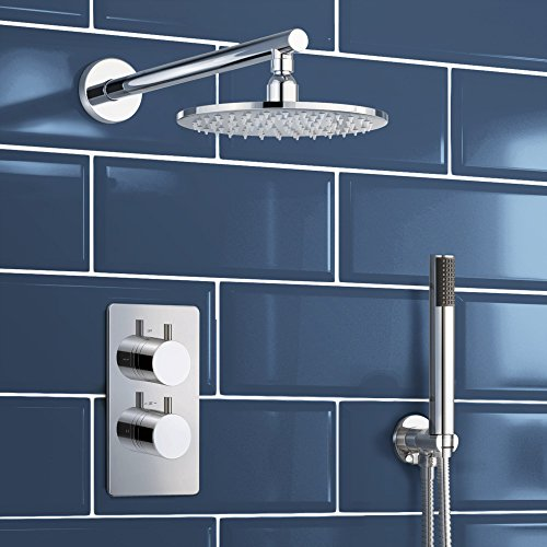Concealed Chrome Bathroom Thermostatic Mixer Shower Set with Handheld SB2010
