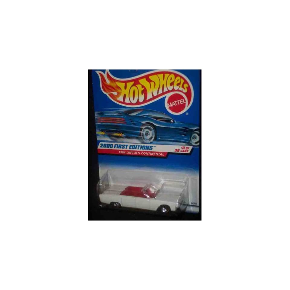 2000 First Editions #3 1964 Lincoln Continental With Hot Wheels Logo #2000 63 Collectible Collector Car Mattel Hot Wheels