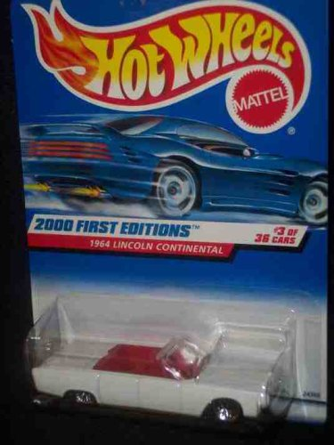2000 First Editions #3 1964 Lincoln Continental With Hot Wheels Logo #2000-63 Collectible Collector Car Mattel Hot Wheels