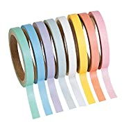 Pastel Solid Colors Washi Tape Set -…