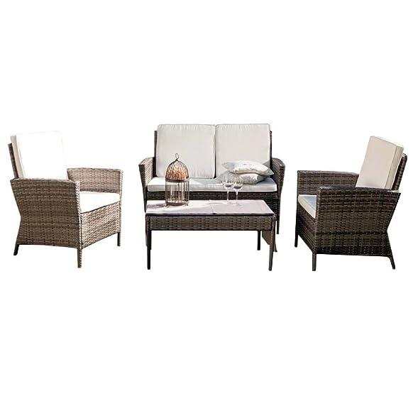Salotto salottino polirattan divano poltrone tavolo design giardino 750/14ME