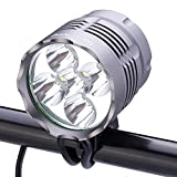 SecurityIng® 5600LM 5X XM-L T6 LED Waterproof 3 Modes Bicycle Light Headlamp Super Bright LED Bicycle/Bike Lamp Headlight with 8.4V 8000mAh Rechargeable Battery Pack and Charger for Outdoor Riding, Camping and Other Activites