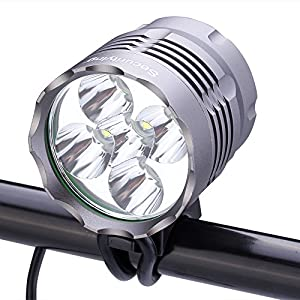 SecurityIng Waterproof 2500 Lumens 5X T6 LED Bicycle Light 3 Modes Headlamp