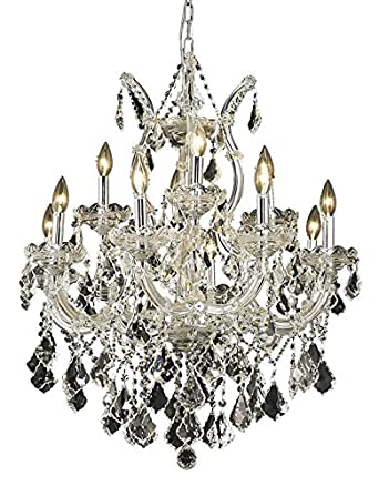 Maria Theresa 13 Light Chandelier Finish / Crystal Color / Crystal Trim: Chrome / Crystal (Clear) / Strass Swarovski
