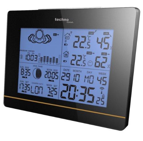 Technoline-Wetterstation-WS-6750-mit-Vorhersage-von-Wettersituation-und-Anzeige-von-Mondphasen-in-Form-von-Icons
