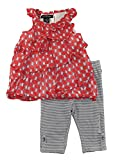 Calvin Klein Baby Girls' Red Printed Tunic with Gray Leggings