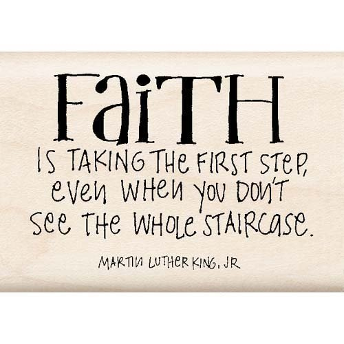 FAITH IS Mounted Rubber Stamp InkaDinkaDo - 1