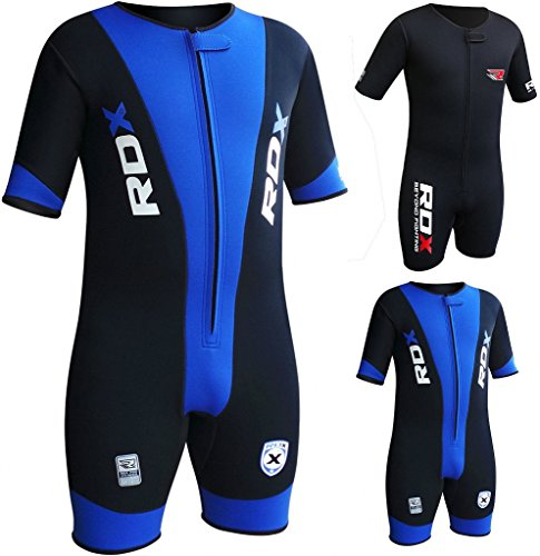RDX MMA Neoprene Sweat Sauna Suit Shirt Rash Weight Loss Slimmimg Fitness Gym Exercise Training