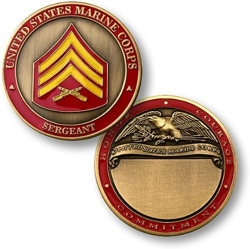 U.S. Marines Sergeant Engravable Challenge Coin