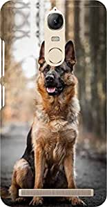 Dot Print Hunter Dog Printed Back Cover For Lenovo Vibe K5 Note