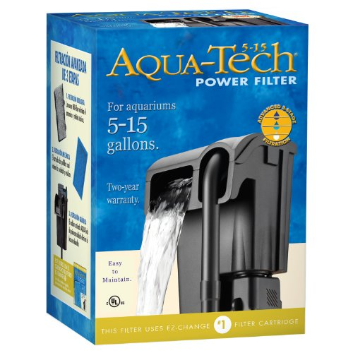 Aqua-Tech Power Aquarium Filter, 5 to 15-Gallon