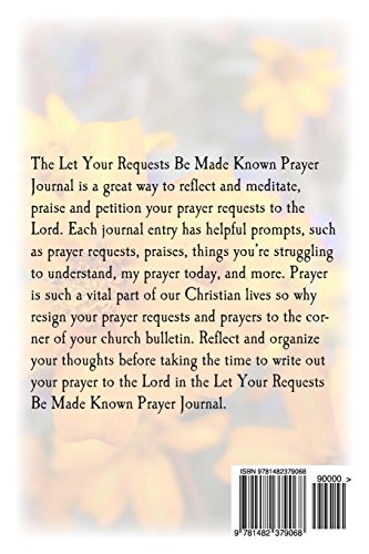 Let Your Requests Be Made Known Prayer Journal