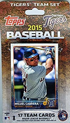 Detroit Tigers 2015 Topps Baseball Factory Sealed EXCLUSIVE Special Limited Edition 17 Card Complete Team Set with Miguel Cabrera and Many More Stars and Rookies ! Shipped in Bubble Mailer!