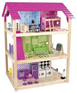 Sturdy Kidkraft So Chic Stylish Dollhouse (65078) - Offers Plenty Of Room To Play From All Angles Toy / Game / Play / Child / Kid