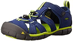 KEEN Seacamp II CNX Sandal (Toddler/Little Kid/Big Kid),Blue Depths/Lime Green,13 M US Little Kid