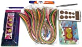 Naarilok Quilling Tools and Strips Value Pack - 6 Tools and 1200 Quilling Strips Kit