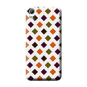 Garmor Check Design Plastic Back Cover For HTC Desire 828 (Check - 7)