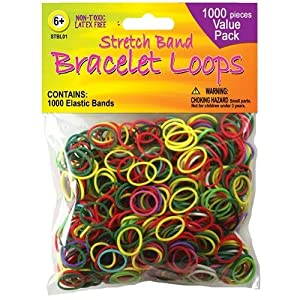 amazoncom stretch band bracelet loops 1000pkgassorted