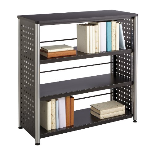 Safco Products 1602BL Scoot Bookcase with 3 Shelves, Black Safco 3 Shelf Bookcase