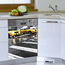 Mur-Mur New York Time Appliance sticker for Dishwasherr Color print