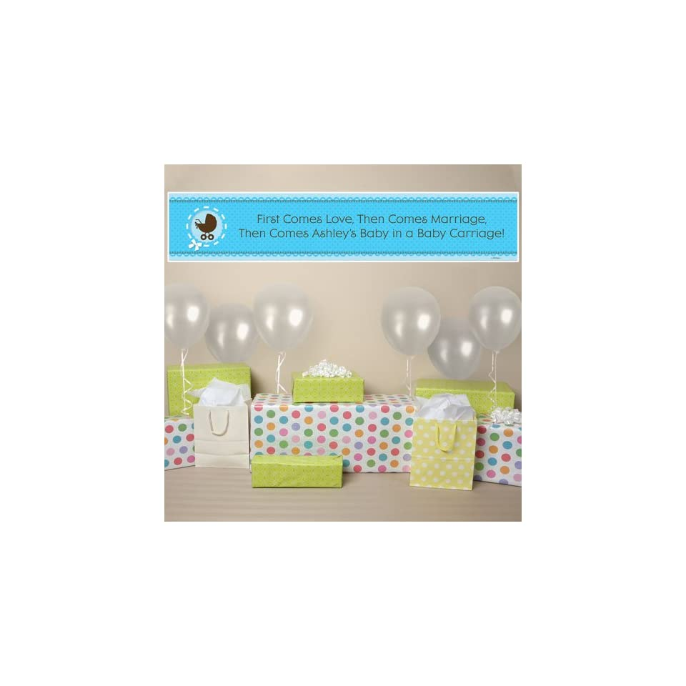 Banner   Boy Baby Carriage   Personalized Baby Shower Banner