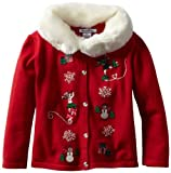Hartstrings Little Girls' Holiday Cardigan Sweater