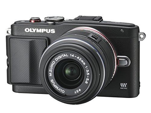 OLYMPUS ミラーレス一眼 PEN Lite E-PL6 レンズキット ブラック E-PL6 LKIT BLK