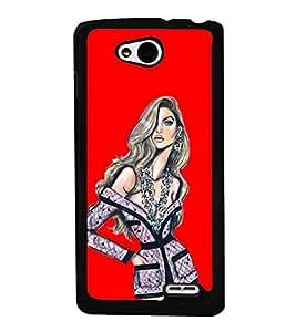 Girl with Short Dress 2D Hard Polycarbonate Designer Back Case Cover for LG L90