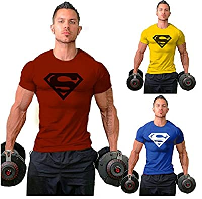 SquareGym New Men Fittness S Logo Bodybuilding Gym T-Shirt