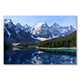 Poster art print: TEN PEAKS MORAINE LAKE BANFF CANADA (A1 maxi - 61x91.5cm / 24x36in, semi-gloss satin paper)