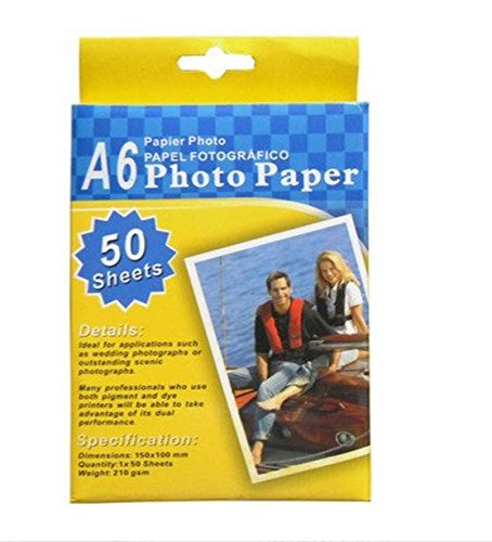 A6 Photo Paper Glossy 50 Sheets 4 X 6 for Inkjet Printers Bulk New