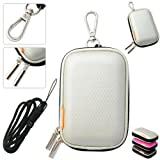 New first2savvv outdoor heavy duty silver camera case for Samsung PL210 PL20 ES80 ST70 ST50 ST61 ST500 ES63 ES55 ES67 with black camera hand strap