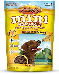 Zukes's Mini Naturals Healthy Moist Training Treats Chicken (Pack of 3)