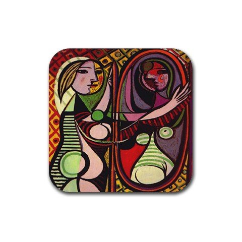 Girl Before a Mirror By Pablo Picasso Coaster (Set of 4)