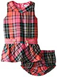 Hartstrings Baby Girls Plaid Woven Jumper