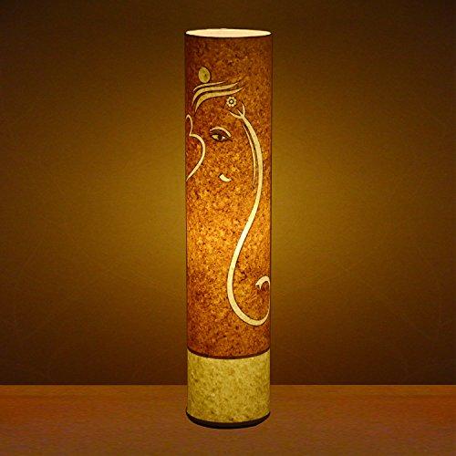 handmade-ppaer-textured-yellow-paper-shade-ganesha-living-bedroom-floor-lamp