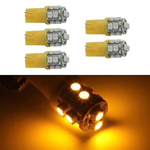 Partsam 5x194 168 10-3528-SMD Amber LED Bulbs for Roof Running Clearance Cab Marker TOP Light lamps (06 Gmc Sierra Cab Roof Lights compare prices)